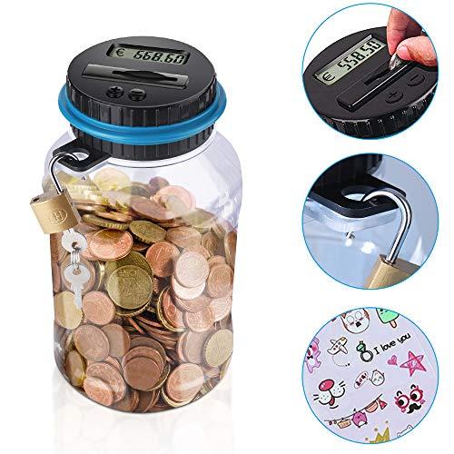 Hucha de Monedas Euro Caja con lucchetto e adesivo Caja de