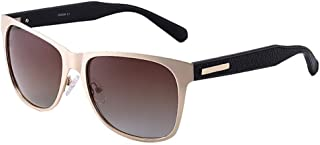 SGJFZD Men's Driving UV400 Polarized Sunglasses Outdoor Fashion Retro Sunglasses Sunshade (Color : Brown)