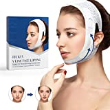 RNEKFA Face Slimming Strap,V-Line Face Lifting Bandage,Face-Lift Double Chin Reducer Strap,Pain-Free Face Shaper Band,Face Slimming Bandage,Eliminates Sagging Skin Lifting Firming Anti Aging for Women and Men (white)