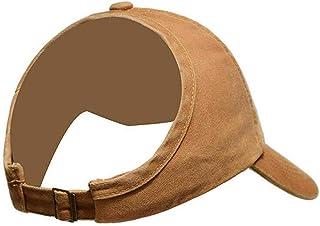 Women Ponytail Baseball Visor Cap Women Sport Cap Backless Messy Curly Bun Hat for Summer