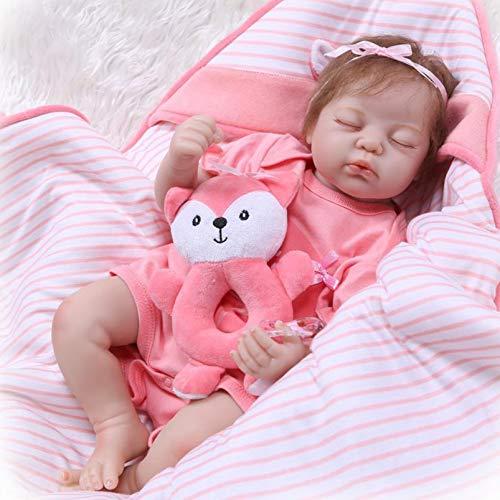 Yeah-hhi 56Cm Muñecas Reborn Real Soft Touch Cuddly Colsed Eye Sleeping Baby Newborn Muñeca para El Juguete Infantil, Arte Coleccionable