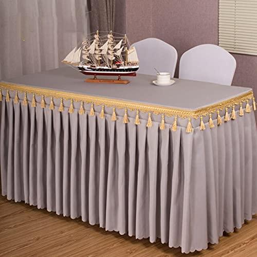 Honorable Falda de Mesa, exposición, reunión, decoración de Hotel, Mantel Rectangular, Cubierta de Mesa, decoración Azul Real, Mesa de café, Gris, 180x60x75cm