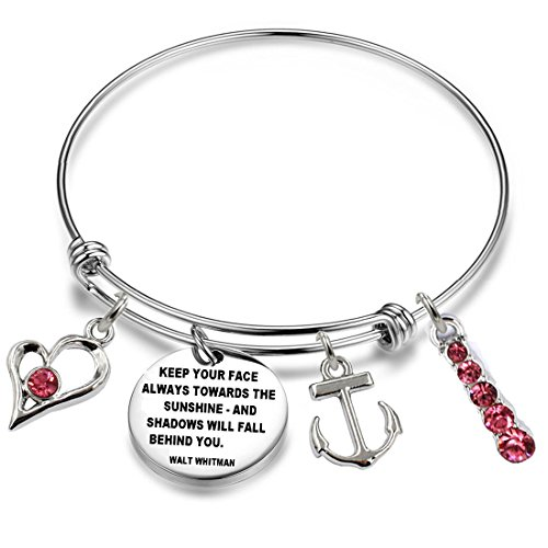 YOYONY Inspirational/Motivational/Love/Memorial/Thankful/Beauty/Praise/Religious/Friendship Meaningful Message Charm Bracelets (FBA87-47)
