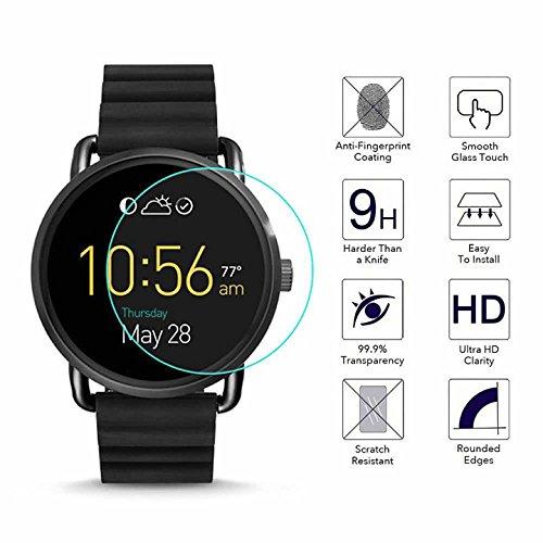 YANSHG® Für Fossil Q Wander Watch gehärteter Glasschutz, Anti-kratzen Ultra Clear 9H Uhr gehärtetem Glas Protektor
