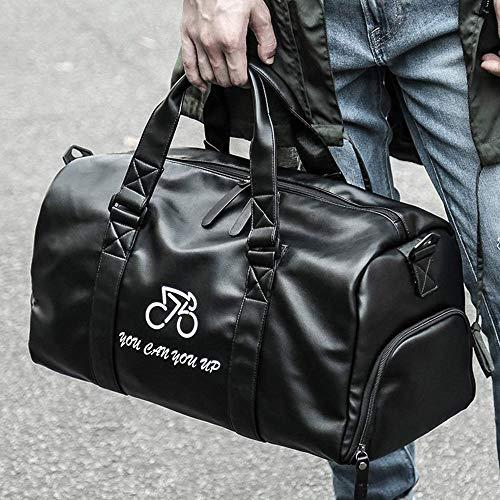 Zyyqt Fitness-Tasche, Männer trockene und nasse Trennung Outdoor Sports Rucksack Tragbare große Kapazitäts-Golftasche Unabhängige Schuh Position Schwarz (Color : B)