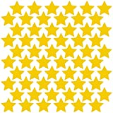 LiteMark Durable Gloss Finish Yellow 4 Inch Star Decal Stickers | Great for Floors, Ceilings, Walls, Laptops, and Most Smooth Surfaces | (Pack of 60 Stars)