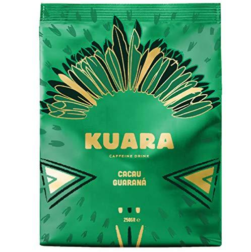 KUARA Kakaopulver mit natürlichem Koffein aus Guarana | belebende Trinkschokolade | Wach Koffein-Kakao - 210g