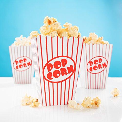 PartyMarty Tüte Popcorn Rot-Weiss 13x9,5cm 24er FM
