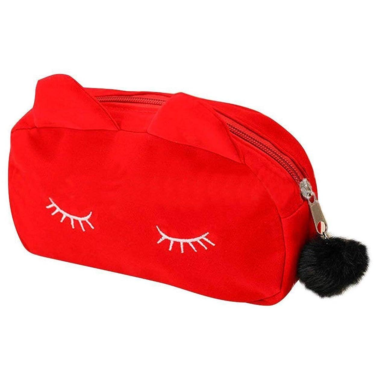 移行する組立サルベージTOOGOO 携帯用 漫画パターン化粧品袋 構造袋 ペン筆箱 ボックス 箱 赤色