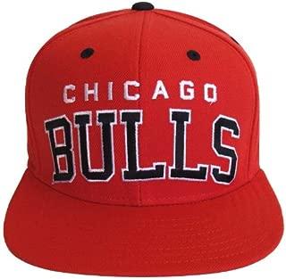Chicago Bulls Retro Block Snapback Cap Hat All Red