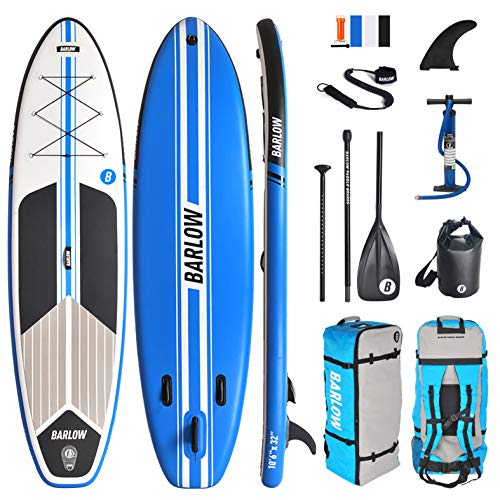 """Inflatable Stand Up Paddle Board, Premium SUP Accessories & Backpack 