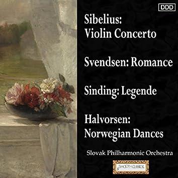 Sibelius: Violin Concerto - Svendsen: Romance - Sinding: Legende - Halvorsen: Norwegian Dances