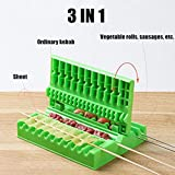 Quick Meat Skewer Stringer, Ecstasi Easy Barbecue Maker Vegetable Grill Kebab Machine BBQ Roasted Accessories Home Family Outdoor Party Gatherings Camping Kitchen Gadgets Cooking Tool