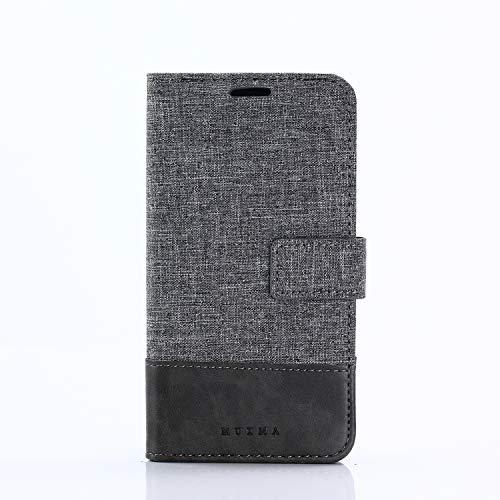 SsHhUu Xiaomi Mi 5C Hülle, multifunktionale Standfunktion Kartenfächer Magnetische Reißverschluss Stoßfest Brieftasche Case Hülle Für Xiaomi Mi 5C 2017 (5.15