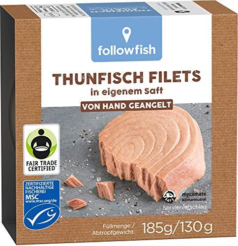 followfish Thunfischfilets Natur, 185g