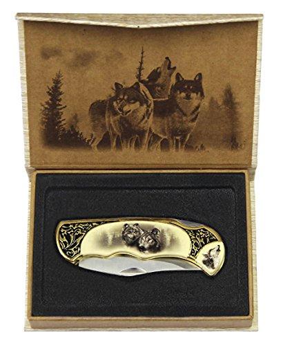 Taschenmesser Jagdmesser Messer Klappmesser Wolf Indianermesser Wölfe Western