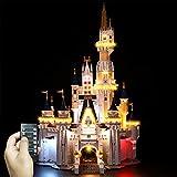 Kit de Iluminación LED para Lego 71040, Kit de Luces Compatible con Lego Castillo Disney - con Control Remoto (No Incluye Modelo Lego)