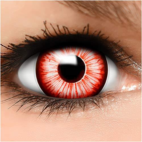 Farbige Maxi Sclera Kontaktlinsen Walking Zombie - inkl. Behälter - Top Linsenfinder Markenqualität, 1Paar (2 Stück)