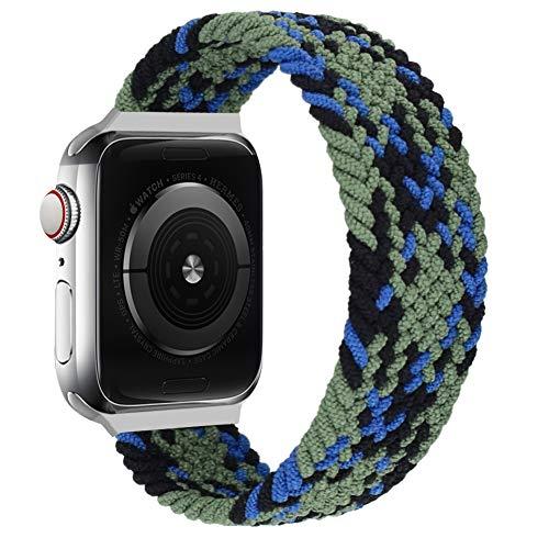 Vozehui Compatible con correa de reloj Apple de 38/40 mm, elástica, transpirable, suave, correa de repuesto deportiva para iWatch Series SE/6/5/4/3/2/1, mujeres y hombres.