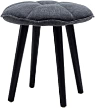WY&XIAN Stool Nordic Fashion Solid Wood Makeup Stool Knit Cushion Fabric Dressing Stool Home Practical Fashion (Color : Gr...