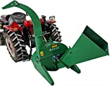 4'x10' PTO Tractor Wood Chipper Shredder for Tractors BX42S [Green] 540-1000 RPM