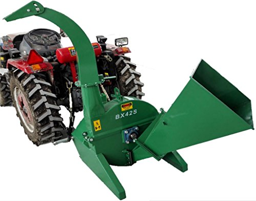 Discover Bargain 4x10 PTO Tractor Wood Chipper Shredder BX42S GREEN 540-1000 RPM