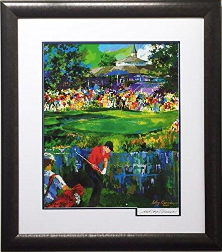 "LEROY NEIMAN ""Valhalla Golf Newly Custom Framed Hand Signed Lithograph Art"