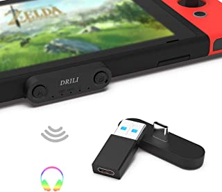 DRILI Bluetooth Adapter Wireless Audio Transmitter for Nintendo Switch & Lite ,PS4 PC,for Bluetooth Headsets AirPods Pro, ...