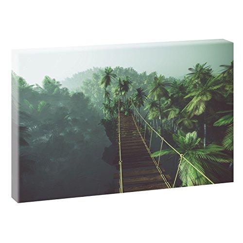 Puente Colgante | imagen panorámica en formato XXL | |–cuadro de impresión sobre lienzo (| Póster | fotografía, distintos formatos y colores, poliéster lona, coloreado, 120 cm x 80 cm