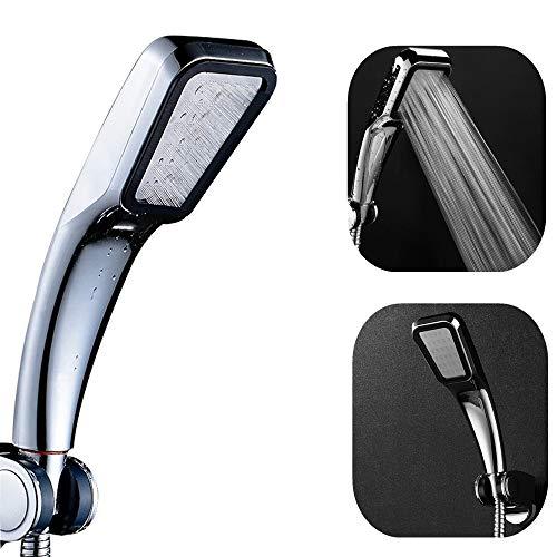 Duschkopf Strahlarten,mit 300 Löcher Badezimmer Turbodruck Shower Head,Verhältnis von Wasserdruck und -Durchfluss ist gut (für Durchlauferhitzer,Warmwasserbereiter Gas,Warmwasserbereiter-Diesel)