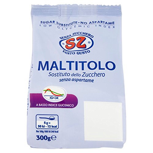 Sz - Senza Zucchero Maltitolo Dolcificante Sostituto dello Zucchero - 300 G