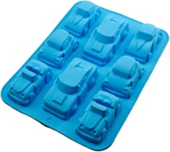 Healifty Silicone Baking Mold Car Shape Silicone Chocolate Candy Mold Cookie Cake Mold Ice Cube Trays Blue