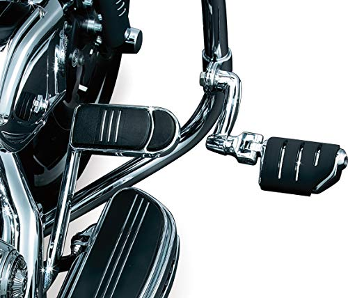Kuryakyn 7555 Motorcycle Foot Controls: Longhorn Offset Trident Dually Highway Pegs with Magnum Quick Clamps for 1-1/4' Engine Guards/Tubing, Chrome, 1 Pair