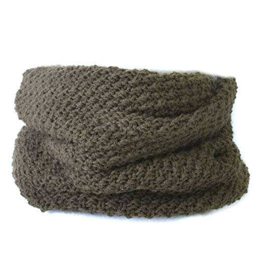 (カジュアルボックス) ネックウォーマー knit トルネード ターバン ヘアバンド ユニセックス フリーサイズ カーキ
