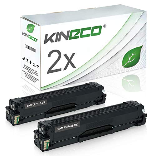 2 Toner kompatibel zu Samsung CLP-415 CLP415 für Samsung Xpress C1810W/SEE, Xpress C1860FW/XEC, CLP-415N/XEC, CLP-415NW/XEG - CLT-K504S/ELS - Schwarz je 2.500 Seiten
