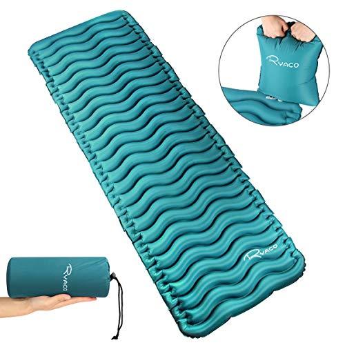 RYACO Isomatte Aufblasbare Luftmatte Ultraleicht Kleines Packmaß Camping Matratze mit Airbag, Schlafmatte Luftbett für Outdoor, Reise, Strand, wandern, Trekking und Backpacking