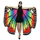 Halloween-Kostüme für Frauen Schmetterlingsflügel Schal Schals, Damen Poncho Kostümzubehör Schmetter Dayboom (Mehrfarbig)