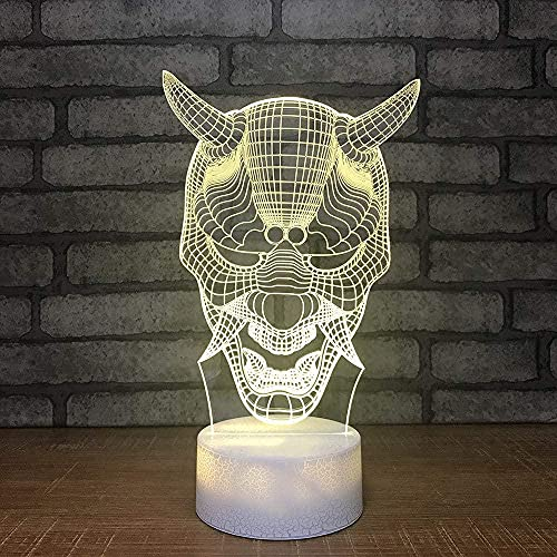 3D Ilusión Noche Luz Decoración Tabla Lámpara De Escritorio Animal Con Toque Mando A Distancia 7 Colores Cambiantes Regalos Perfectos Para Niños Navidad