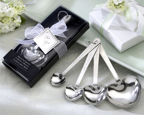Love Beyond Measure Heart-Shaped Measuring Spoons in Gift Box [SET OF 12]