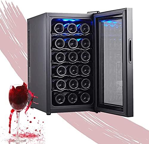 NFRMJMR Frigorífico para vino, refrigerador de vino refrigerador independiente con control táctil sensor, temperatura fácil de configurar, refrigerador de control de temperatura digital para vinos, ch