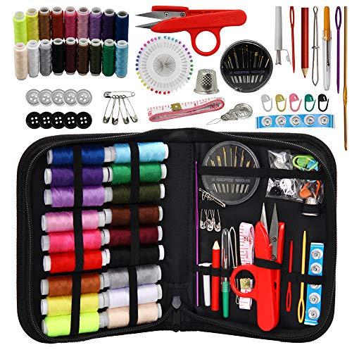 WeeCosy Kit de costura XL accesorios para el bricolaje principiante adultos niños campeones de verano viajes y hogar Kit de costura con