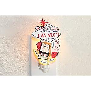 Big Las Vegas Sign Night Light Lamp Candle Nightlight Rotating W Switch