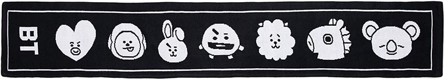 BT21 Official Merchandise by Line Friends  Slogan Fashion Scarf for Women and Men