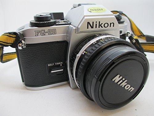 Nikon FG 20 35mm SLR Filmkamera Körper mit der Serie E 50mm f1.8 Objektiv in Voller Größe