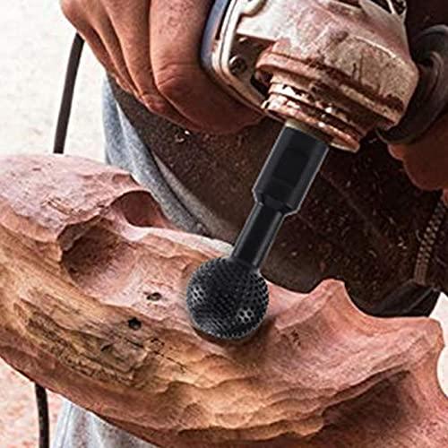 Taladro de talla de madera, piezas de repuesto de grabado de cabeza para perforación de amoladora angular para tallar pulido (tamaño: 10 mm)