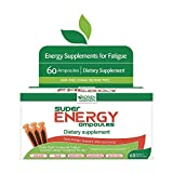 Adrien Gagnon - Super Energex 30x10mL Ampoules, Natural Energy Shots with Ginseng Extract, Kola Nut, and B Vitamins, Adaptogen Blend for Stress and Mood Support (60 Ampoules)