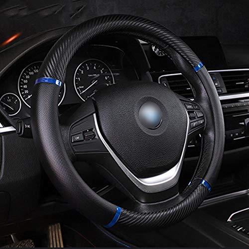 XLTWKK Car Strip Lenkradbezug Leder, für BMW E92 E53 X3 F25 E34, für Audi A6 C6 A5 B7 Q5 C5, für Ford Fiesta Mondeo