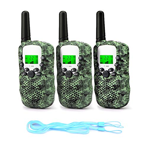 Fansteck 3PACK Talkie Walkie Talky Walky Enfant Portable Longue Transmission de 3km 8 Canaux Écran...