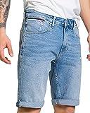 Tommy Jeans Ronnie RLXD Denim Short HLBC Pantalones Cortos de Jean, Hudson LB Co, W34 para Hombre
