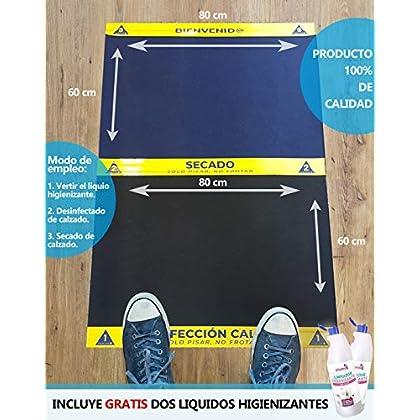 Cibol Alfombra – Felpudo DESINFECTANTE Entrada + (x2) Limpiador Higienizante, para Calzado, Zapatos, Oficina, Empresas…